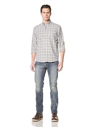 Cutter and Buck Men's Cypress Check Shirt (Mossy Rock)