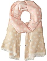 Betsey Johnson Women's Jeweled Dots Blanket Wrap Blush Scarf One Size