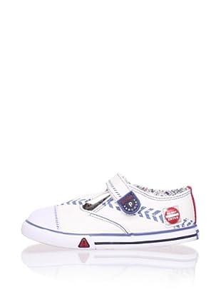 Pablosky Kid's T-Strap Sneaker (White)