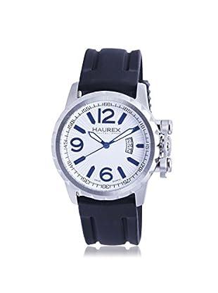 Haurex Men's 3A502UWN Aeron Black/White Rubber Watch