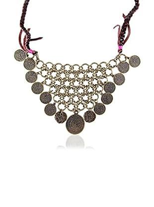 Ettika Brass Mesh Metal Coin Necklace