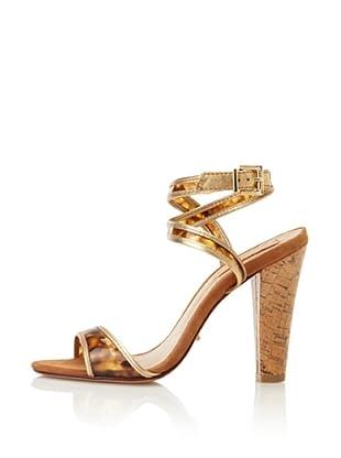Schutz Women's Tortoise Sandal (Tartaruga/Ouro)
