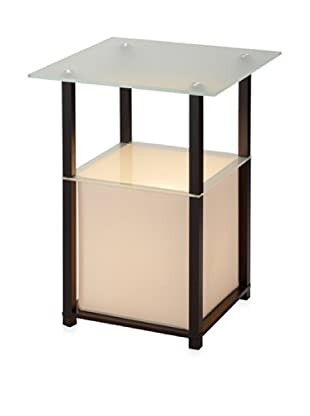 Adesso Marvin Light Table, Black, Square