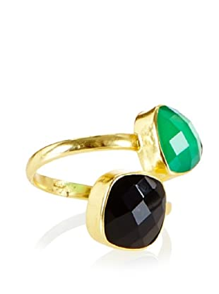 Charlene K Onyx Double Gemstone Ring