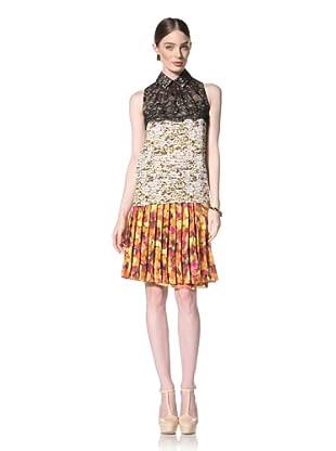 Peter Som Women's Sleeveless Abstract Print Blouse