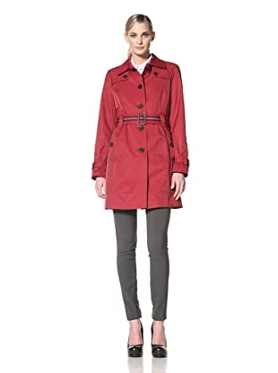 Tommy Hilfiger Women's Marlo Trench Coat (Rebel Red)
