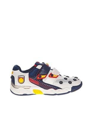 Footgol Sneaker doppelter Klettverschluss (weiß/blau 2)