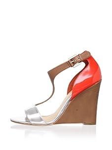 Mark + James Women's Nyomi Wedge Sandal (Coral/Brown)