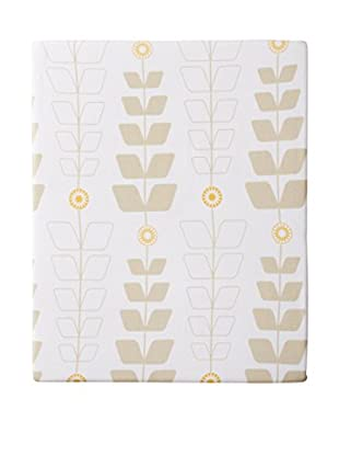 Olli & Lime Stem Crib Sheet, White/Beige