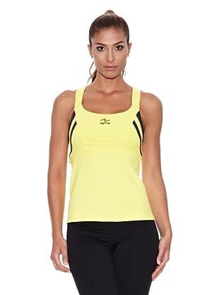 Naffta Camiseta Tirantes Arte (Amarillo / Negro)