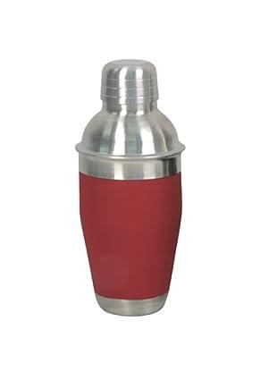 Equinox Coctelera de acero inoxidable y plástico rojo