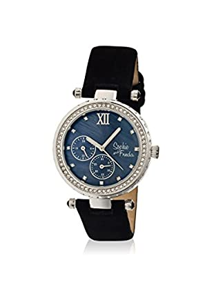 Sophie and Freda Women's SF3002 Montreal Black/Silver Leather Watch