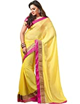 Yellow tissue silk saree from G3 Fashions