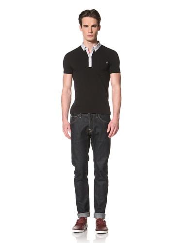 Antony Morato Men's Contrast Collar Polo (Black)