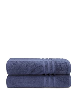 Chortex Set of 2 Irvington Bath Sheets, Navy