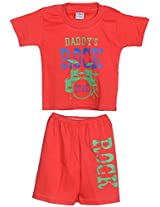 Henry kids Baby-Boys' 12-18 Months Cotton T-Shirt with Half Pant (C26_12-18 Months_RED, Red, 12-18 Months)