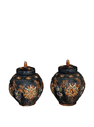 Lidded Dynasty Vessel Pair