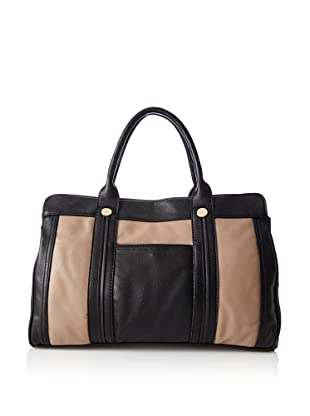 co-lab by Christopher Kon Women's Carlina Large Satchel, Taupe/Black