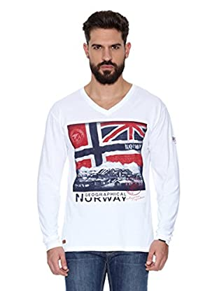 Geographical Norway Camiseta Manga Larga ML Jatchmen Ls Men 402 (Blanco)