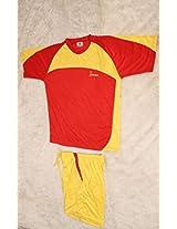 Rakshak Hockey/Football Playing Kits-Shirt & Short Baby Corn (Assorted Colours) - M