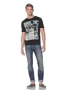 Fresh Men's Printed T-Shirt (Black)