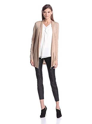 Calvin Klein Women's Textured Flyaway Sweater (Tan)
