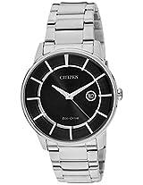 Citizen Eco-Drive Analog Black Dial Men's Watch - AW1260-50E
