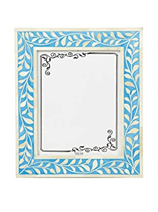 Bethel International Bone Inlaid Photo Frame (Blue)