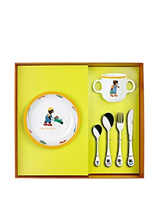 Guy DeGrenne 6-Piece Petit Ours Brun with Fruits & Vegetables Child's Set, White