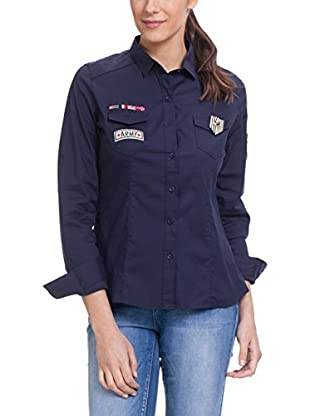 Tantra Bluse klassisch Military With Stickers
