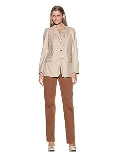 Loro Piana Women's 3-Button Jacket (Dove)