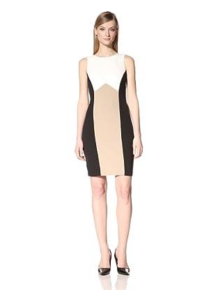 Single Women's The Kate Colorblock Dress (Black/Nude)