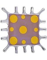 Craftos Impex Aluminum Decorative Plate (15 cm x 15 cm x 1.5 cm, Purple)