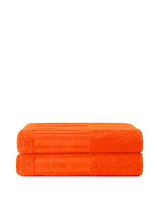 Schlossberg Sensitive 2 Piece Bath Sheet Set, Mandarine
