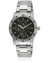 1621Sm01J Silver/Black Analog Watch
