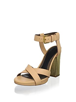 MARNI Women's Ankle Strap Sandal (Peach Amber)