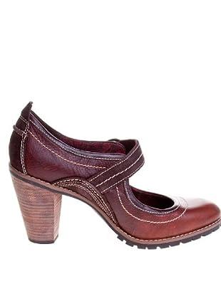 Timberland Zapatos Tacón Hebilla (Marrón Oscuro)