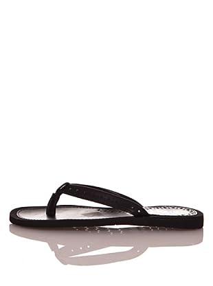 Za-patitos Sandalias Perforaciones (Negro)