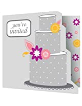 Creative Converting I Do Cake, Party Invitations, 8 Count
