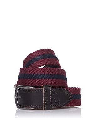 Pepe Jeans London Cinturón Simon Belt (Rojo Oscuro)