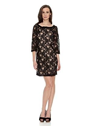 Cortefiel Vestido Croche (Negro)
