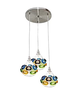Viz Art Glass Ambrosia 3 Light Pendant (Cool Multi)
