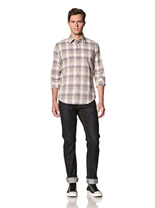 John Varvatos Star USA Men's Point Collar Shirt (Concrete)