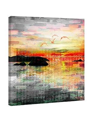 Parvez Taj Leinwandbild Birds In The Sunset