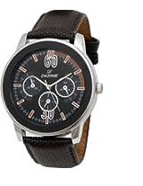 Dezine's black dial analog watch(DZ-GR909-BLK-BLK)