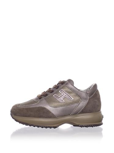 Hogan Kid's Metallic Fashion Sneaker (Copper)