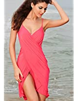 Wrap Up Stylish Cross Front Beach Cover-Up.