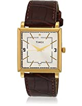 Ti000T20800 Brown/White Analog Watch Timex