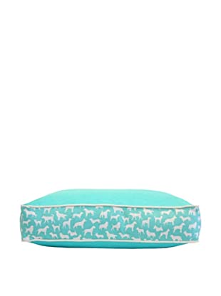 Harry Barker Kennel Club Rectangular Bed (Turquoise)
