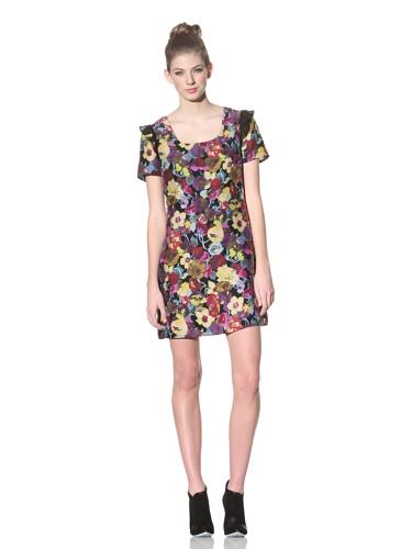 Betsey Johnson Women's Floral Scoopneck Shift Dress (Multi)